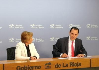 La colaboración entre el Gobierno de La Rioja e Iberaval ha permitido inyectar 49 millones de euros a las pymes riojanas