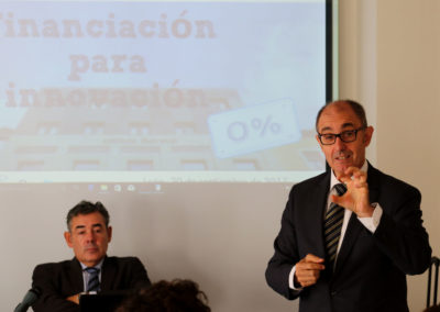 Pedro Pisonero anima a los empresarios leoneses a aprovechar «este momento para invertir a partir de financiación a largo plazo»