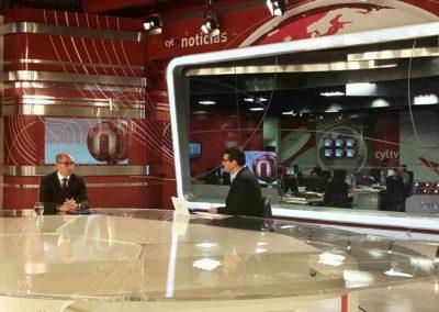 Pedro Pisonero, entrevistado en Castilla y León Televisión tras ser reelegido vicepresidente de AECM