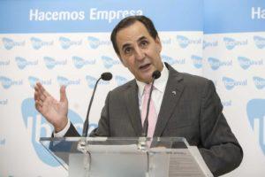 El presidente de Iberaval, José Rolando Álvarez, durante la inauguración