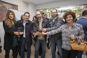 Asistentes al acto de inauguración de la oficina de Iberaval en Logroño