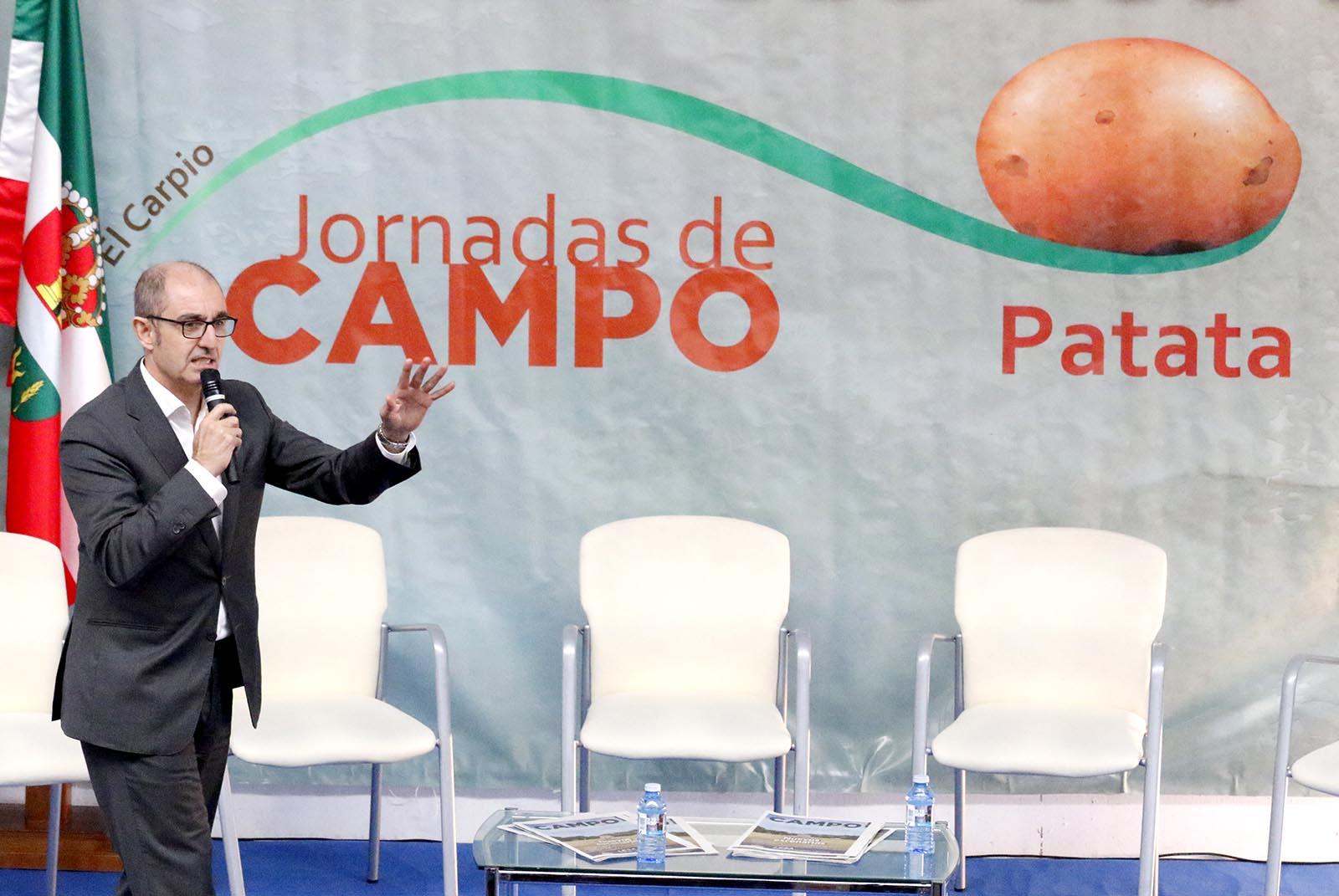Pedro Pisonero, en la jornada sobre la Patata