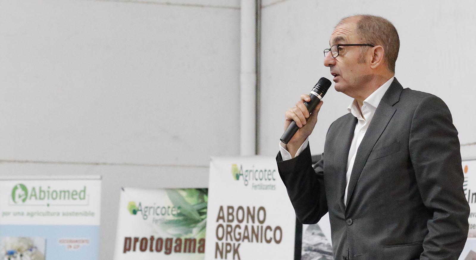 Pedro Pisonero, en la jornada sobre la Patata de El Carpio