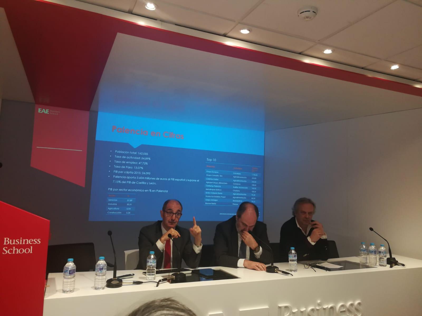 El director general de Iberaval, Pedro Pisonero, en la jornada sobre Palencia