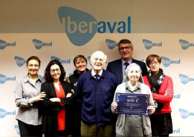 Iberaval dona 300 euros a la causa solidaria de la Hermana Gloria, colaboradora del Banco de Alimentos de Valladolid