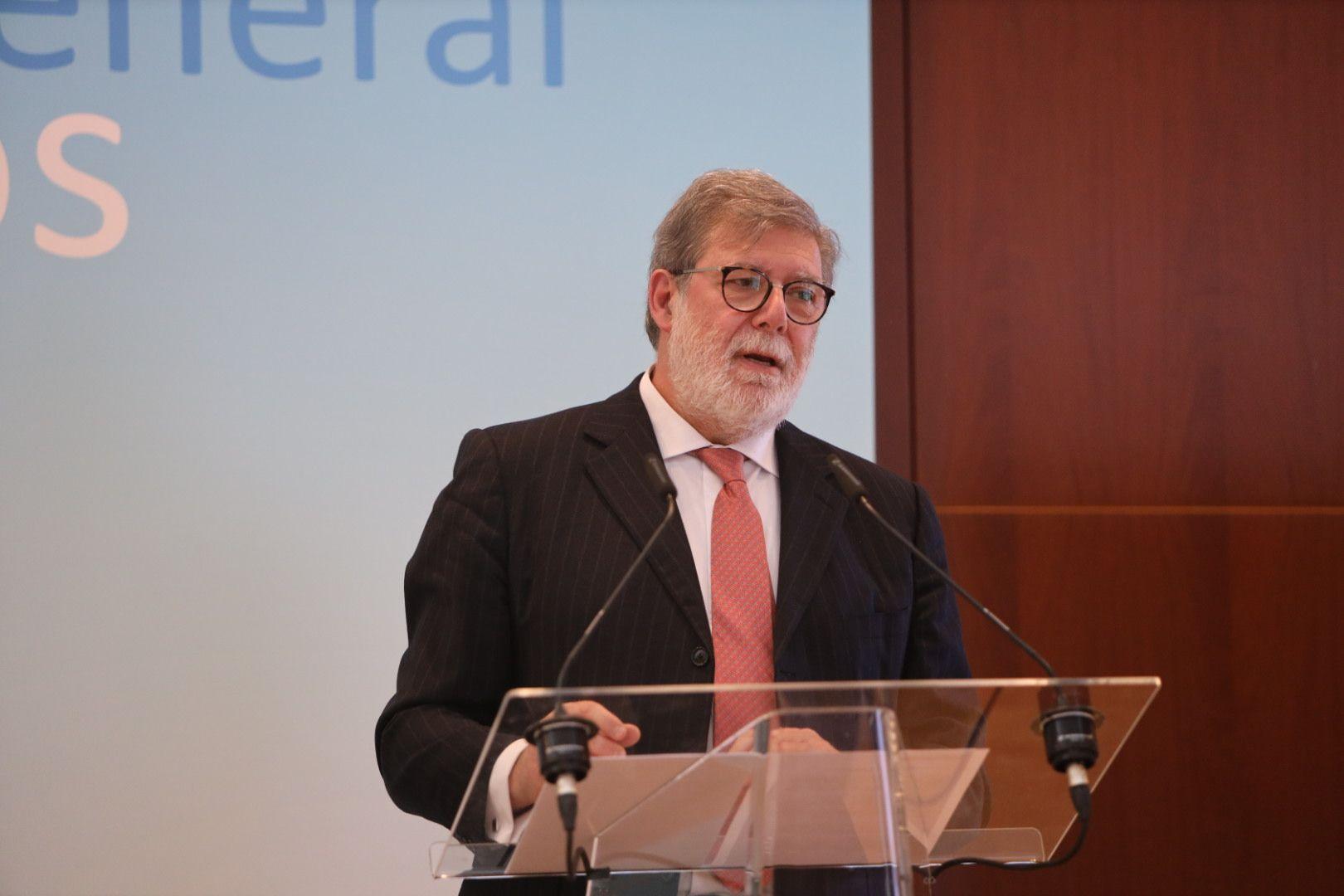 Santiago Aparicio, durante su intervención