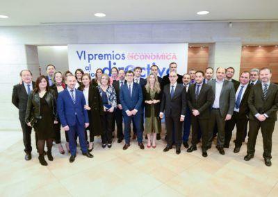 Pisonero recibe el Premio al Mejor Directivo de Empresa arropado por la plantilla de Iberaval