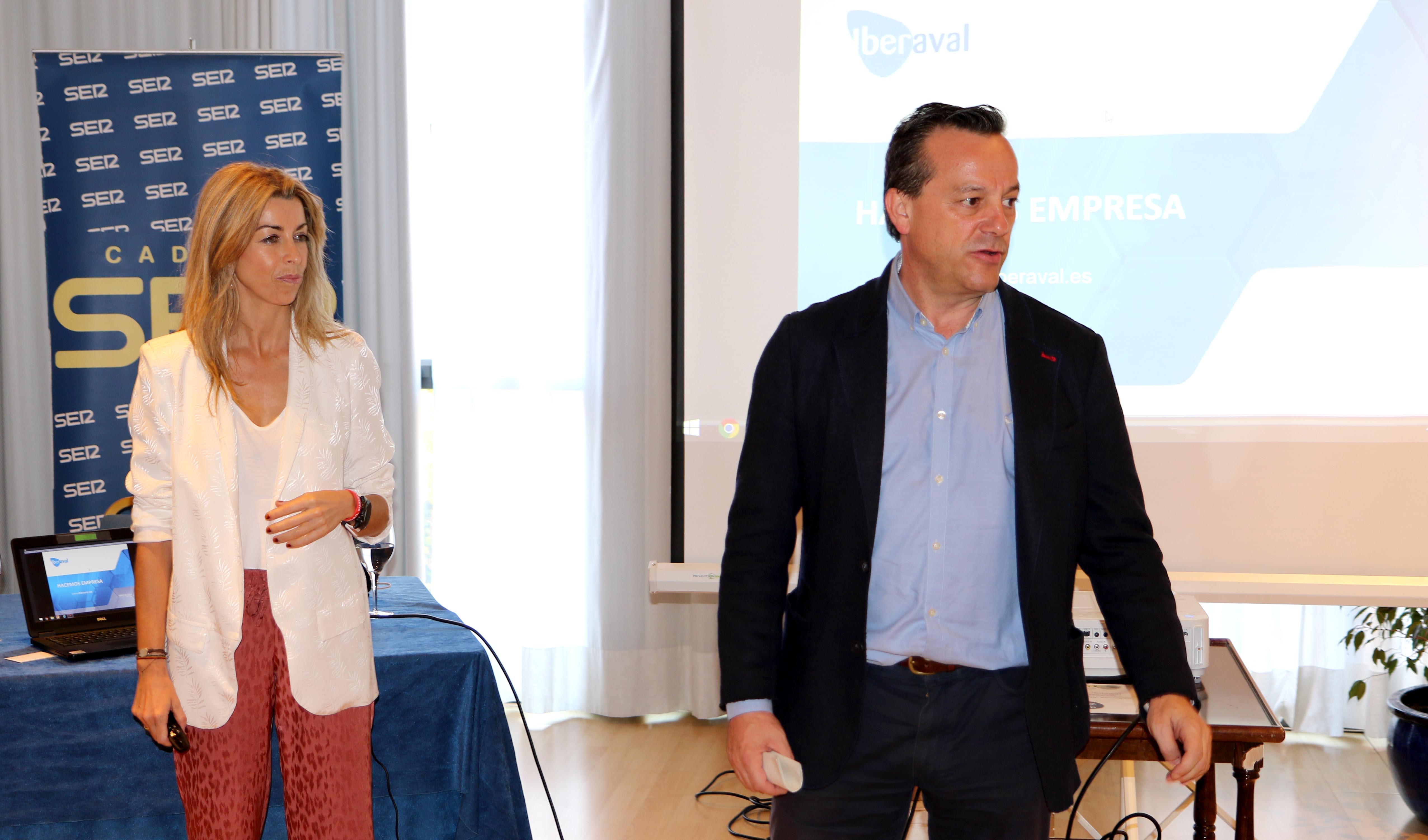 Sandra Martínez, durante su charla