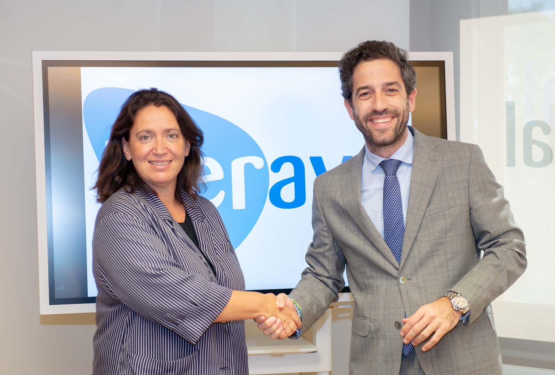 Pontvianne, durante la reunión con Ana Vizcaíno, de CERSA