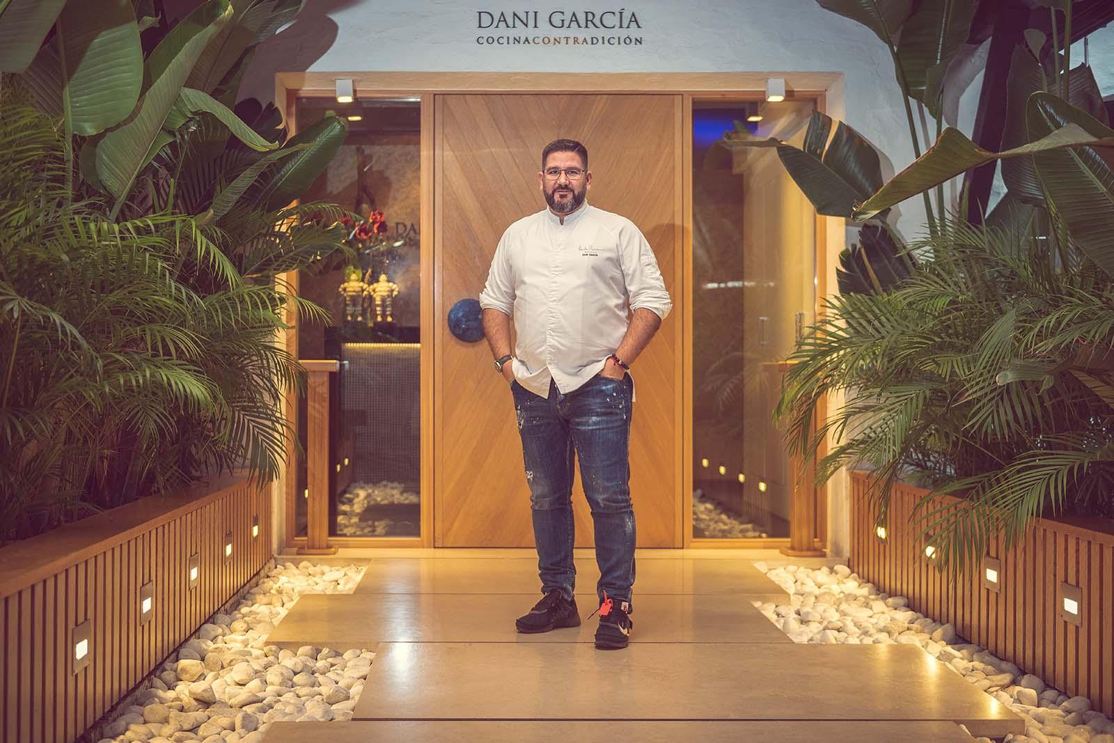 El cocinero Dani García, tres estrellas Michelin, en sus instalaciones