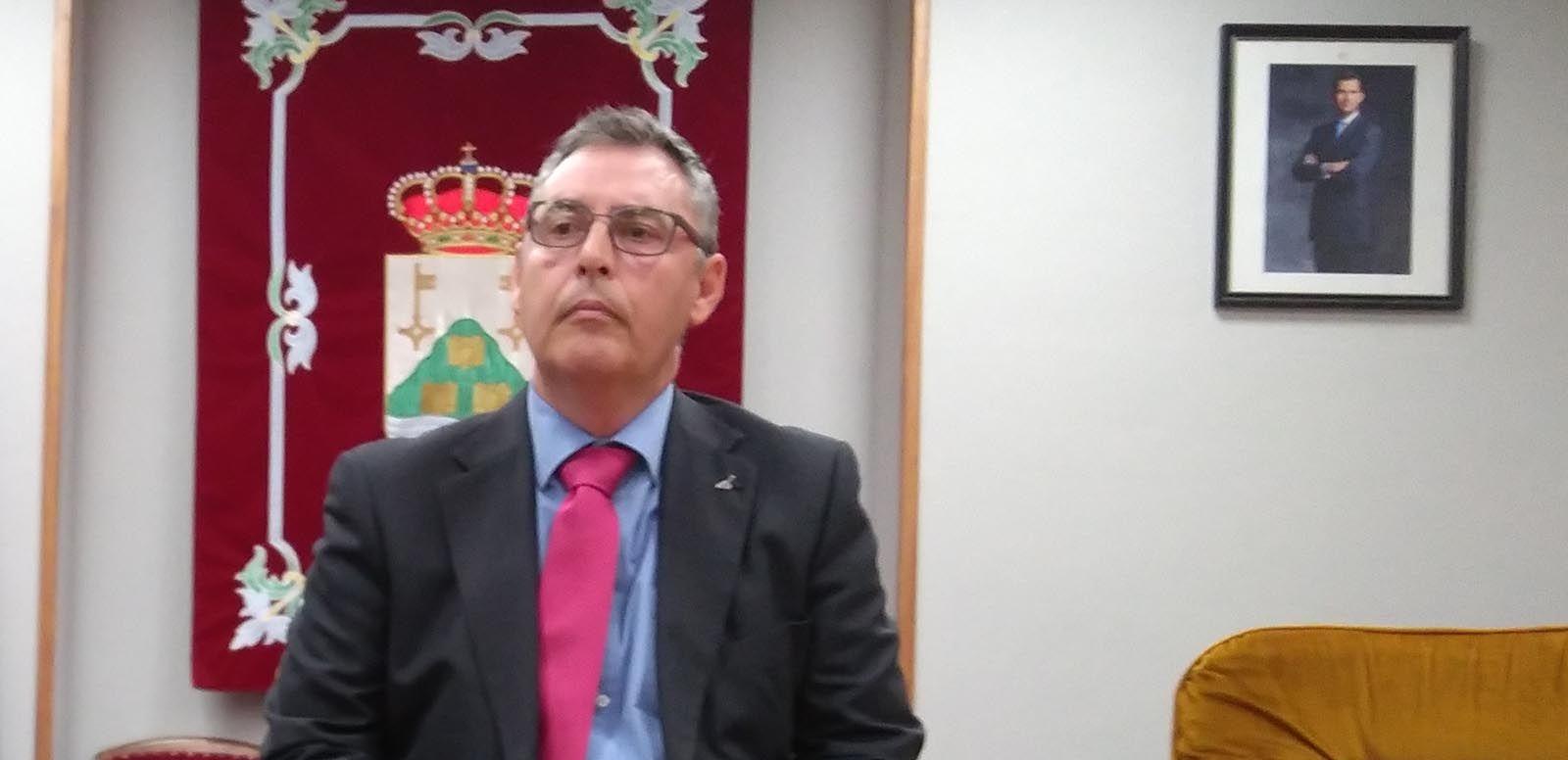 Juan Carlos García, durante su alocución