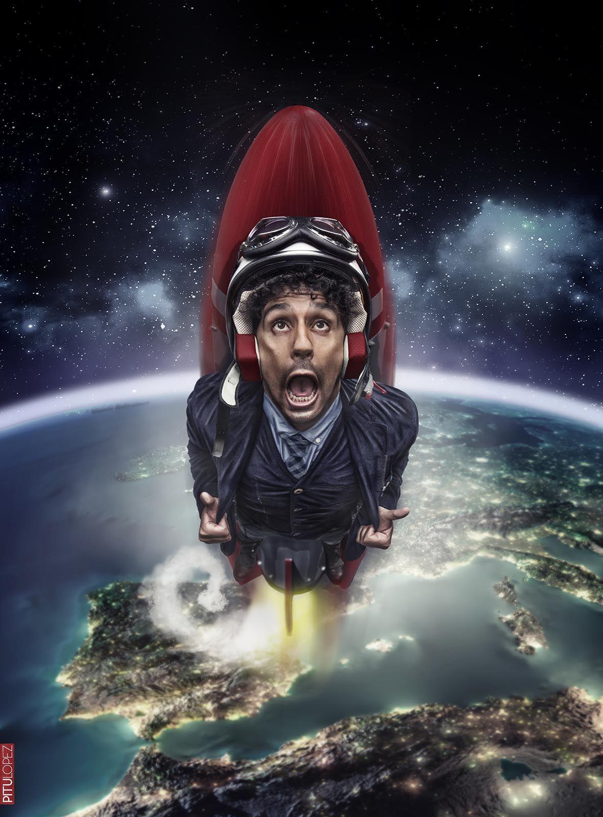 Miguel de Lucas y el cohete