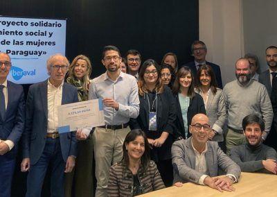 Iberaval y sus empleados donan 2.100 euros a un proyecto solidario de Manos Unidas en Castilla y León