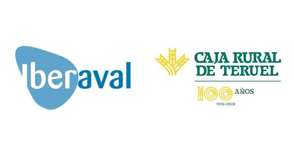 Logos de Iberaval y Caja Rural de Teruel