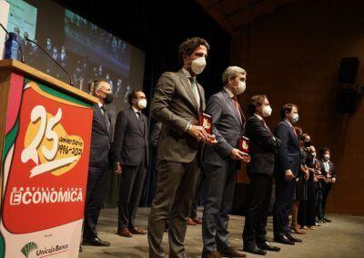 Fernández Mañueco define a Iberaval como «una historia de éxito»en la entrega de los Premios Hitos Empresariales de Castilla y León Económica