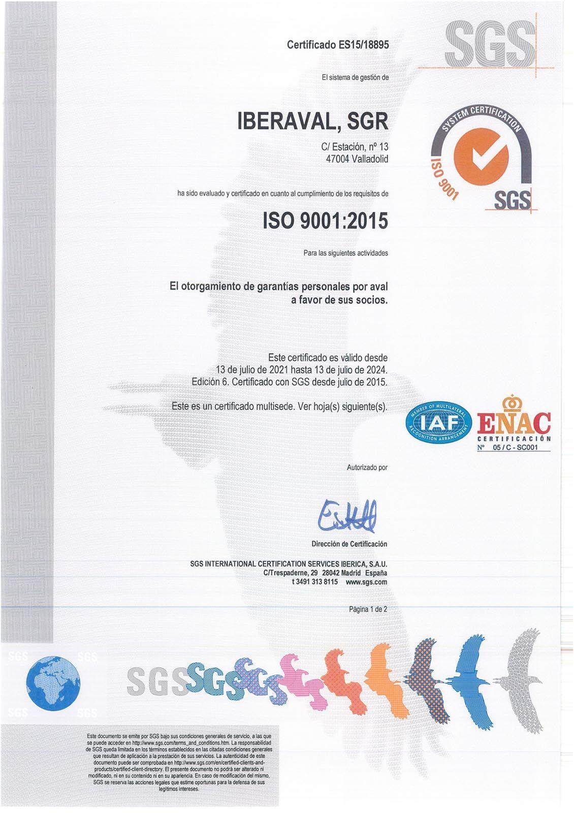 Certificados ISO 2001